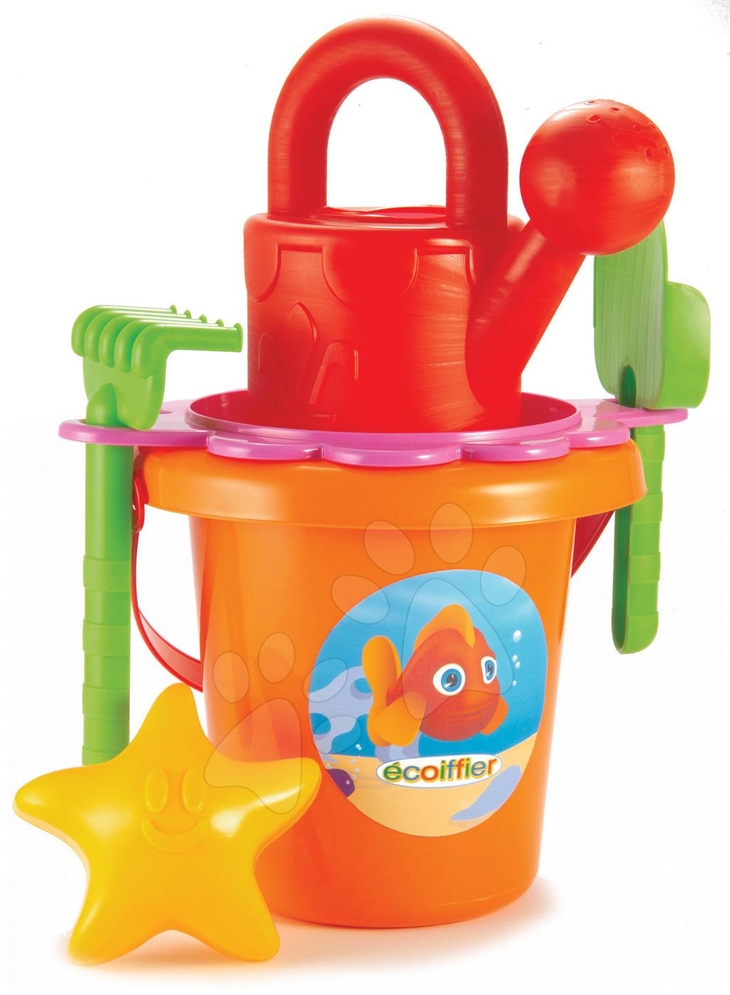 Kbelíky do písku - Velký kbelík set s konví Ryba Écoiffier 6 dílů od 18 měsíců