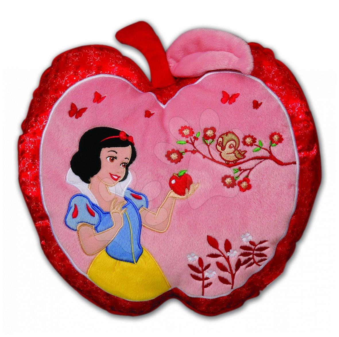 Plyšové polštáře - Polštář WD Princezny Sněhurka Ilanit jablíčko 36 cm
