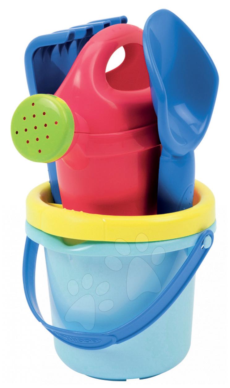 Kbelík set s konví mini Écoiffier 5 dílů modro-červený od 12 měsíců