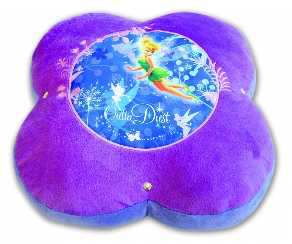 Plyšové polštáře - Disney sedátko Fairies Ilanit fialové 50 cm