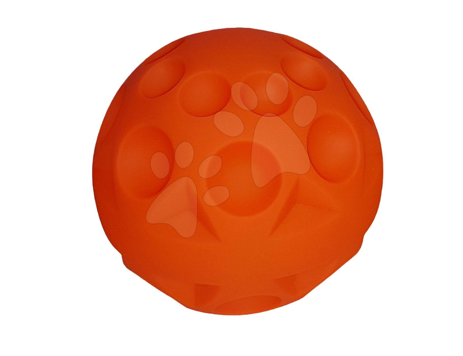 Vývoj motoriky - Oranžová lopta s reliéfovým vzorom Shelcore
