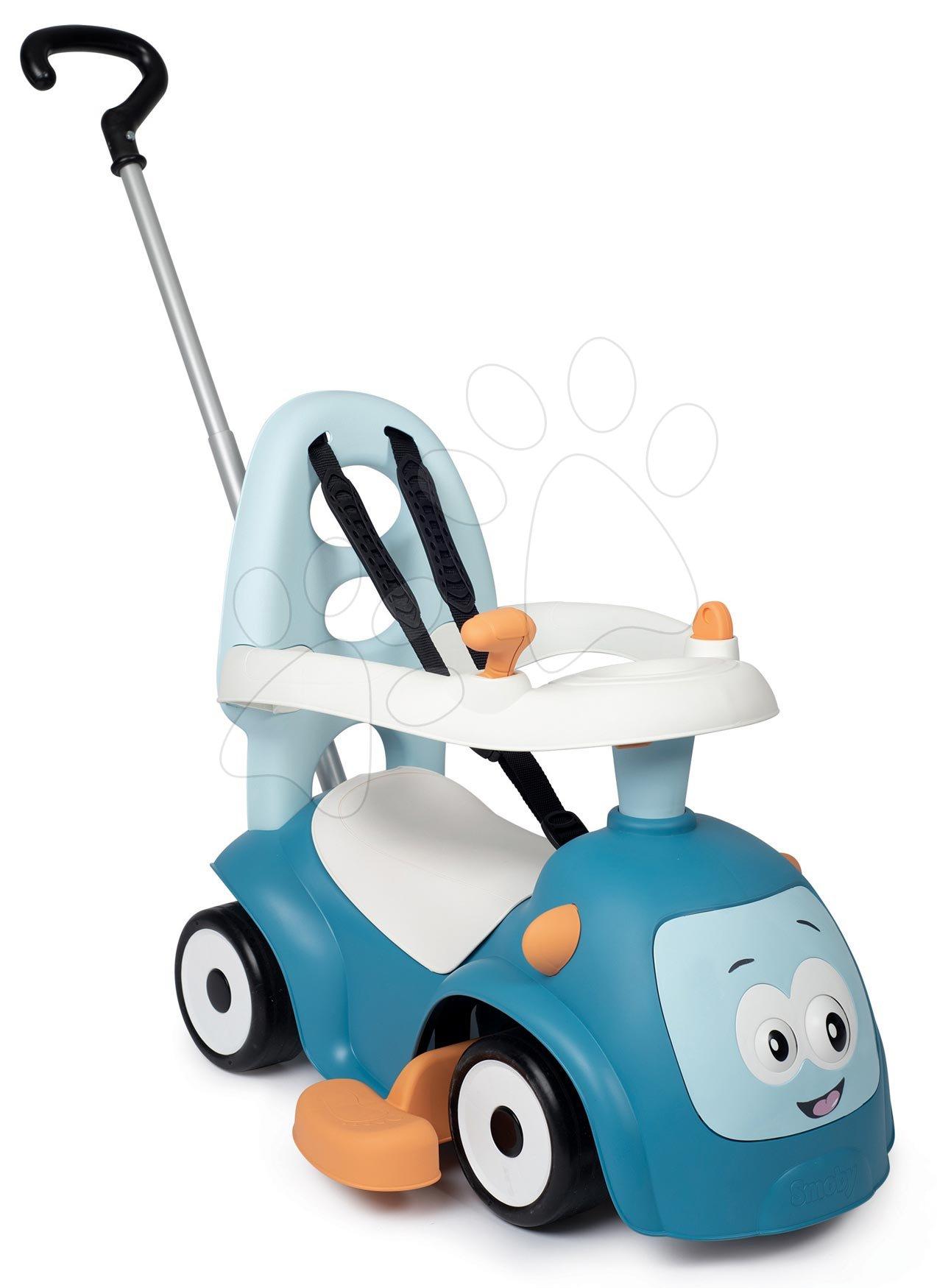 Guralice za djecu od 6 mjeseci - Guralica s dodacima Maestro Ride-On Pink 3in1 Smoby s 3 zvuka i upravljačka drška s obručem - čarobne oči od 6 mjes