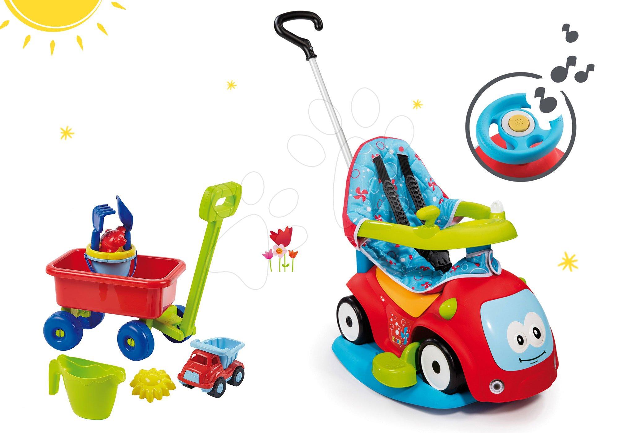 Smoby detské odrážadlo Maestro Confort a vozík s vedro setom 720400-1