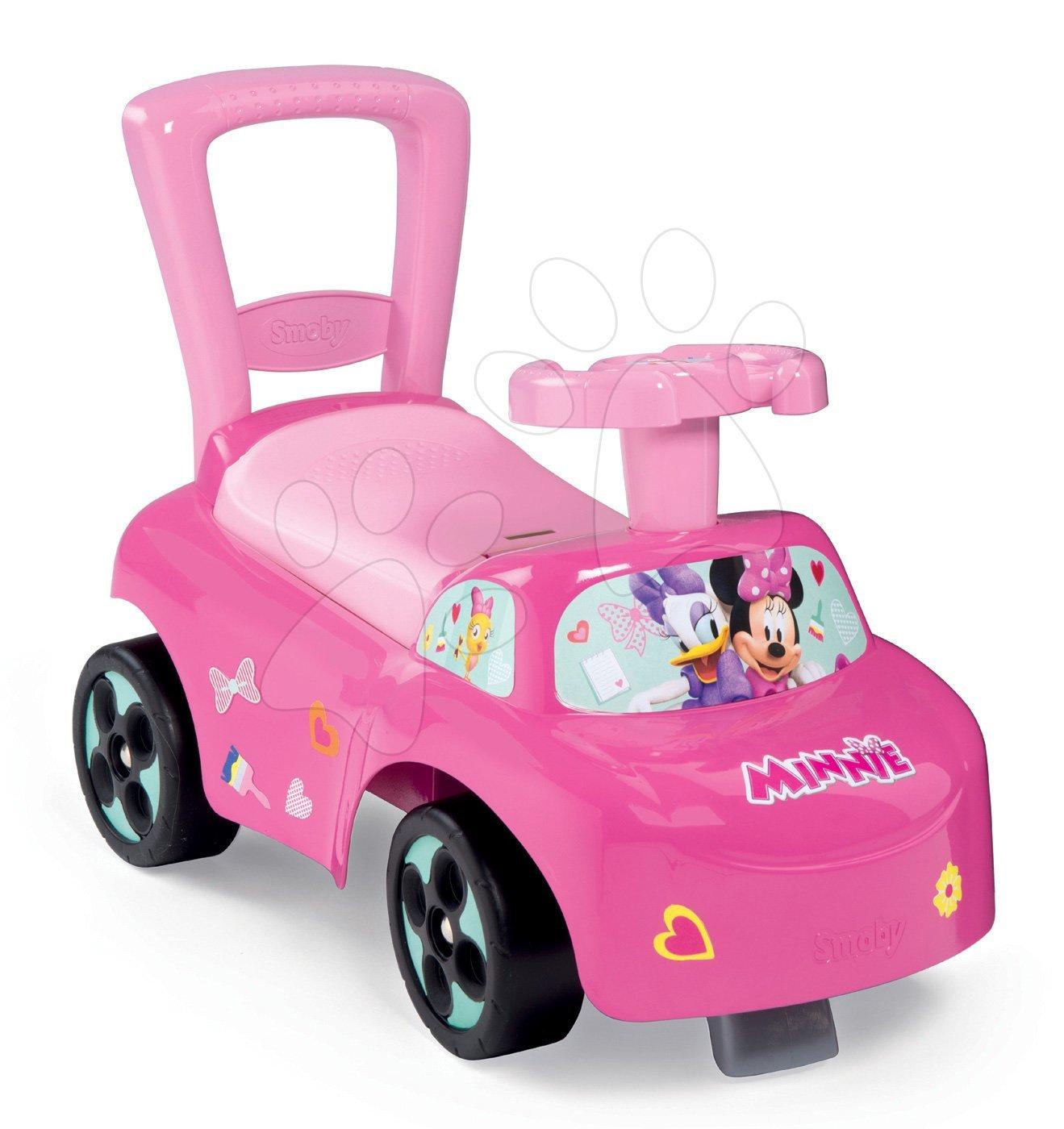 Odrážedlo a chodítko Minnie Disney Smoby s opěrkou a úložným prostorem od 10 měsíců růžové