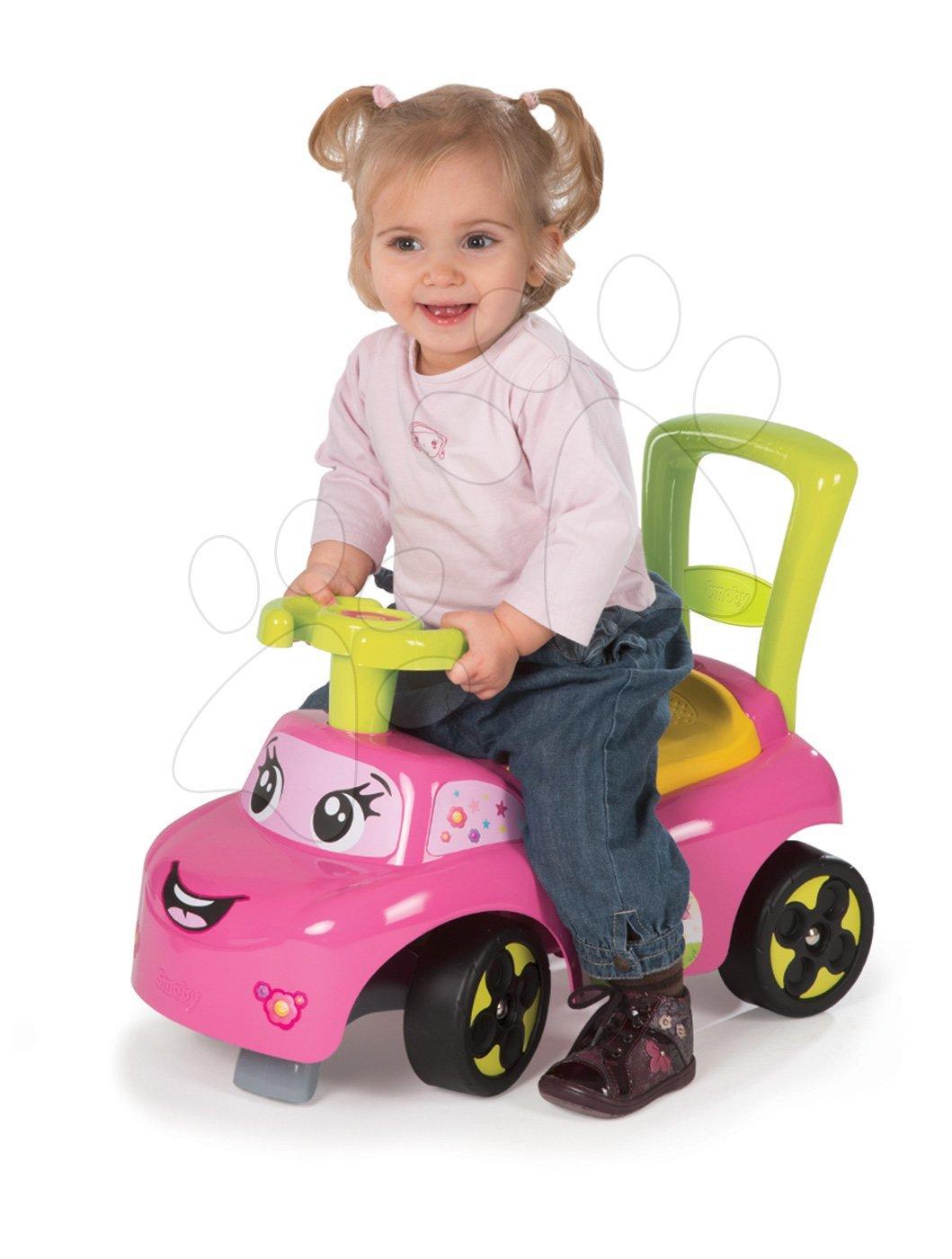 Babytaxiu şi premergător Auto Fille 2in1 Smoby roz de la 10 luni