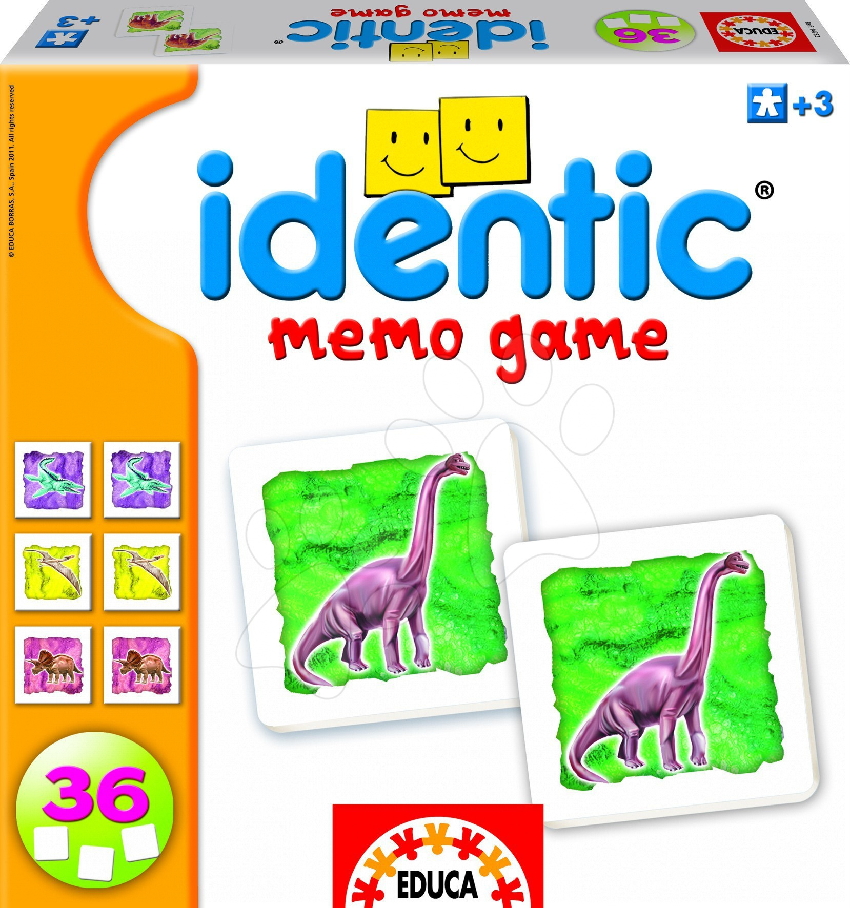 Pexeso - Pexeso Identic Memo Game Educa 36 ks s dinosaury