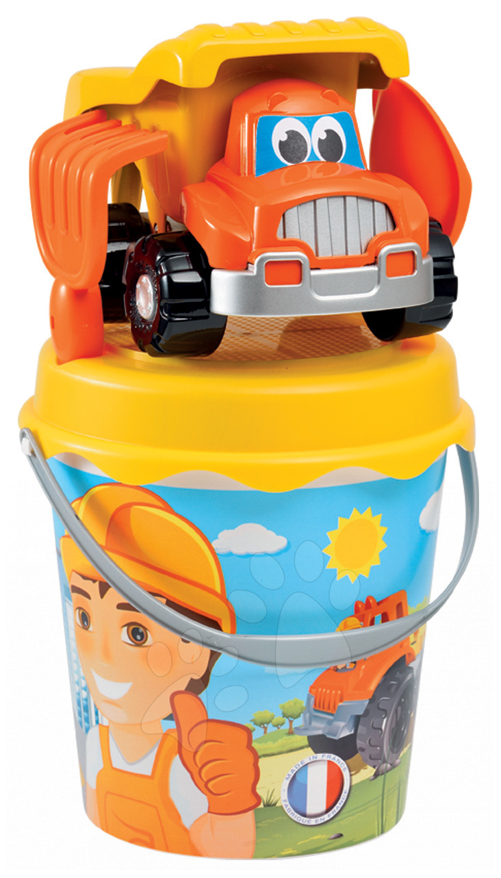 Kbelík set do písku Bořek stavitel Écoiffier s nákladním autem 5 dílů (výška 18 cm) od 18 měsíců