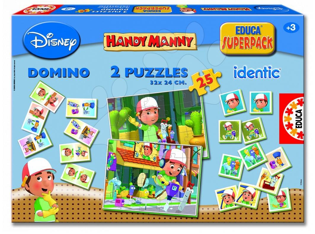 Progresszív gyerek puzzle - Superpack Manny a mester Educa