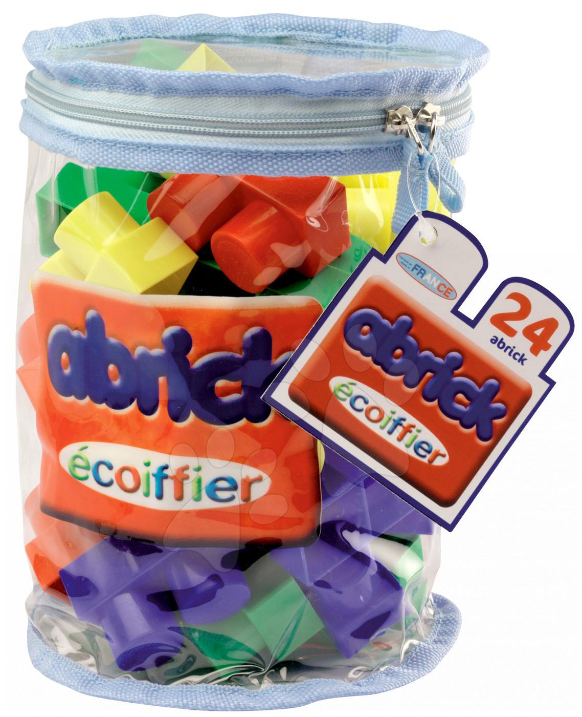 Kostky a stavebnice - Stavebnice v batohu Abrick Maxi Écoiffier 24 dílů od 12 měsíců