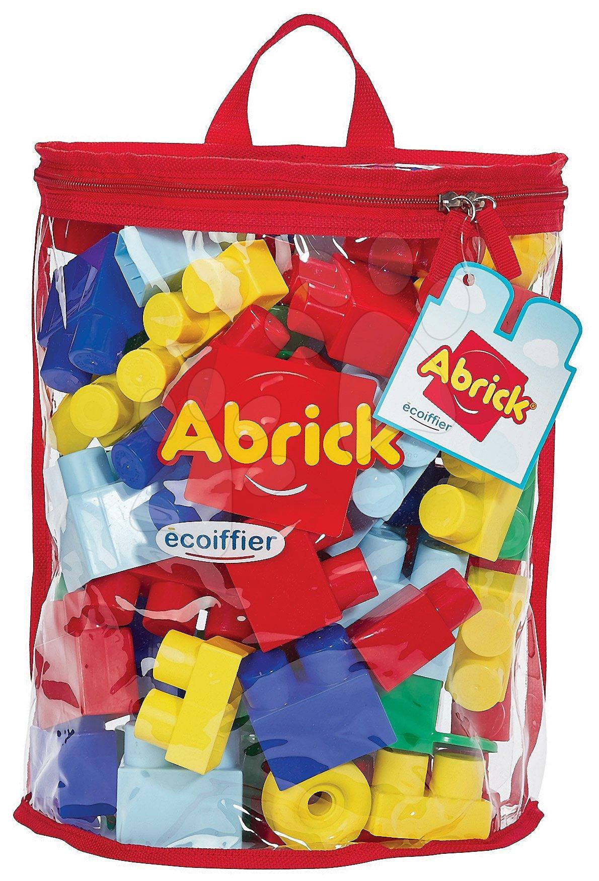 Joc de construit Abrick Maxi Écoiffier în rucsac 50 de piese de la 12 luni
