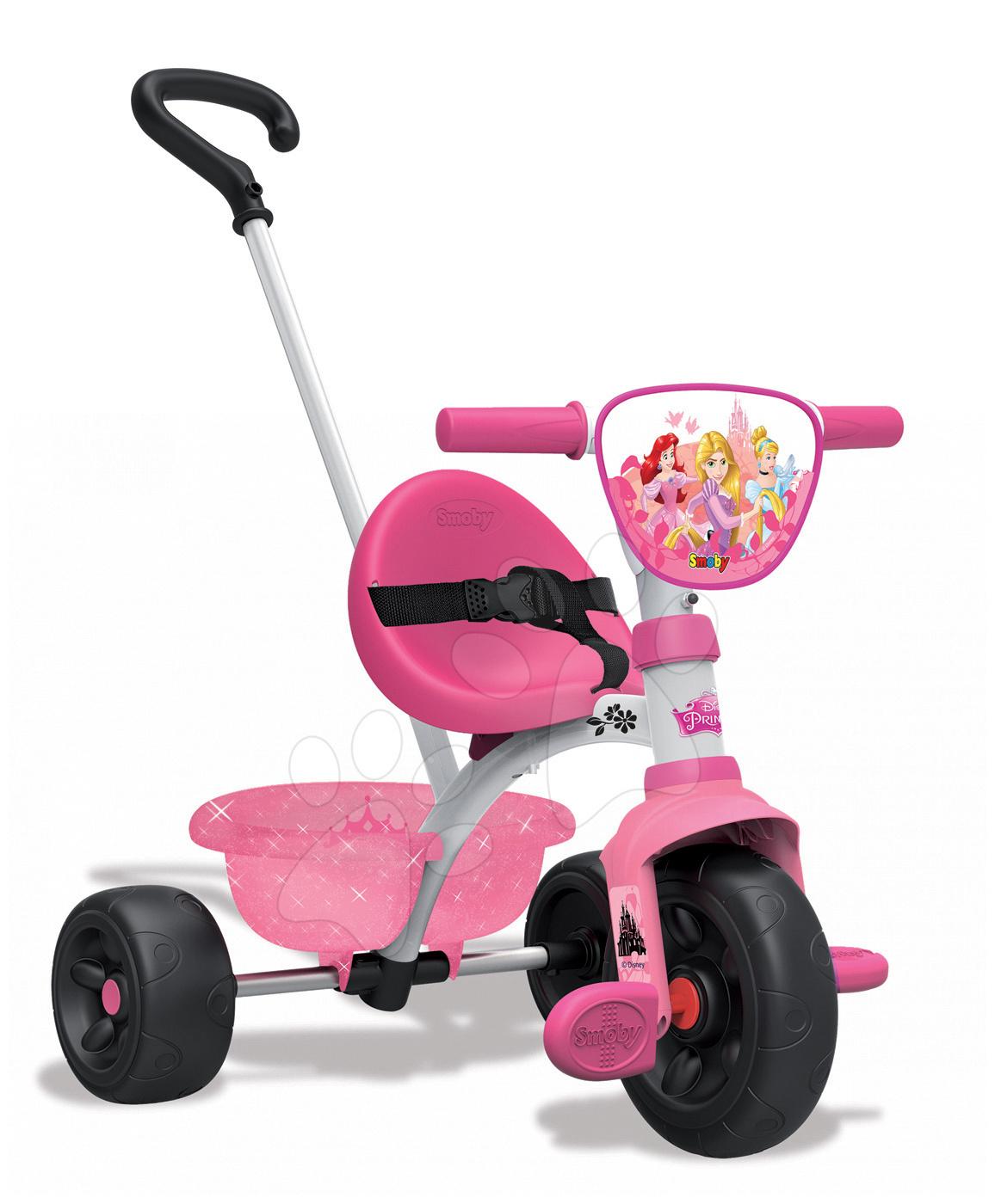 Tricikli za djecu od 15 mjeseci - Tricikl Disney Princeze Be Move Smoby s vodilicom od 15 mjeseci