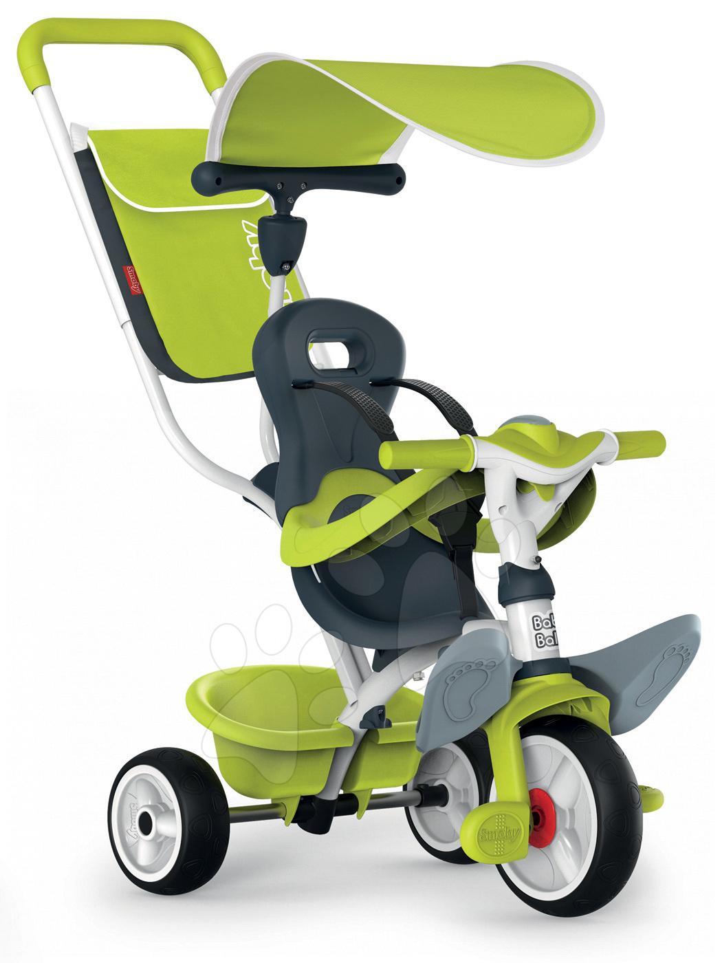 Tricicletă Baby Balade Blue Smoby cu roţi EVA verde de la 10 luni