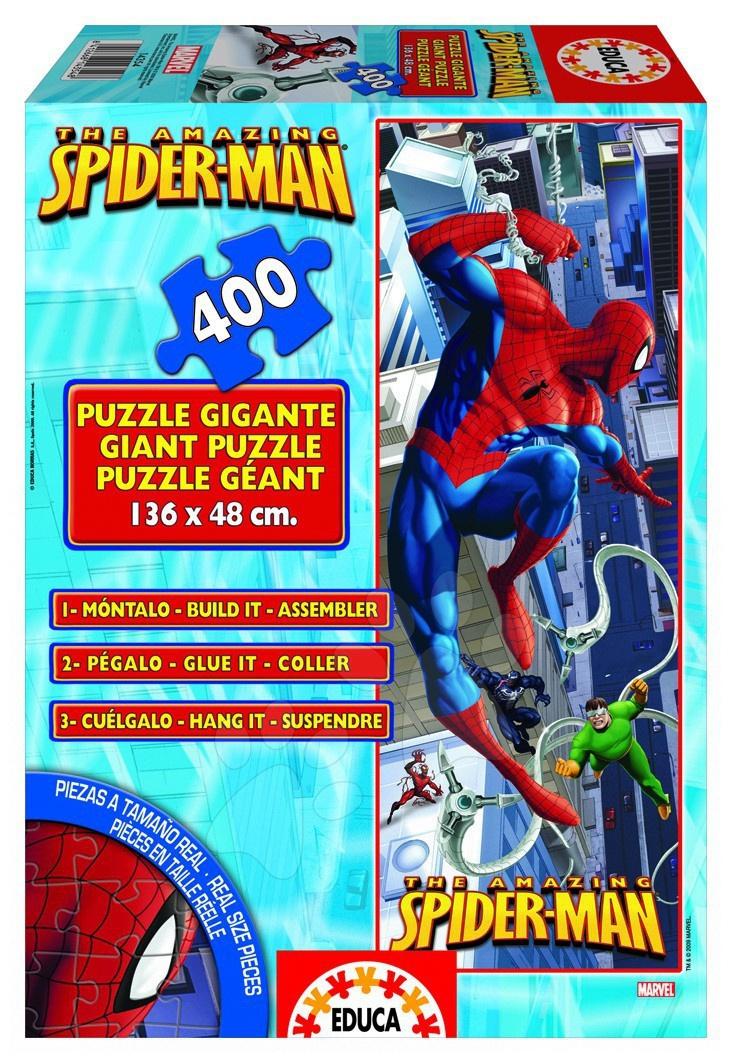 Otroške sestavljive podloge - Educa Disney puzzle cardboard giant Spiderman 400 ks / 136 x 48 cm