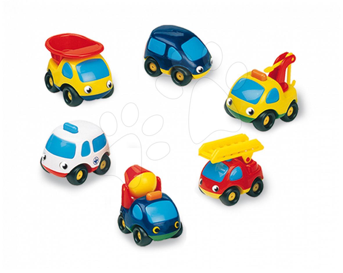 Autíčka - Autíčka Vroom Planet Smoby pracovné - odťahovka, sanitka, miešačka, vyklápač, hasiči a civilné autíčko dĺžka 7 cm od 12 mes