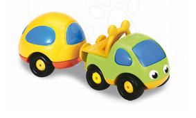 Autíčka  - Pick-up Vroom Planet Smoby s karavanem délka 15 cm od 12 měsíců