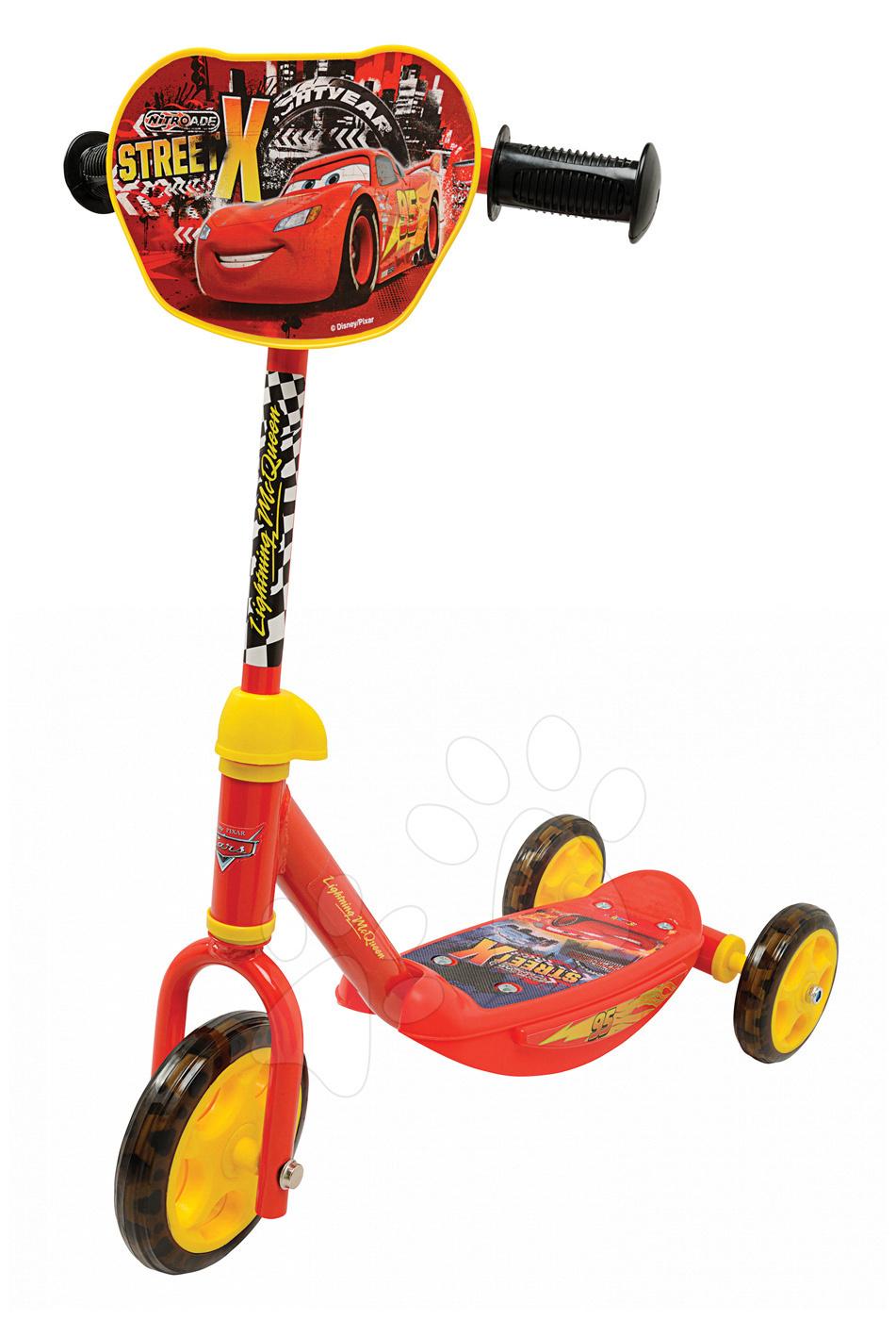 Koloběžka Auta Ice Smoby tříkolová červená