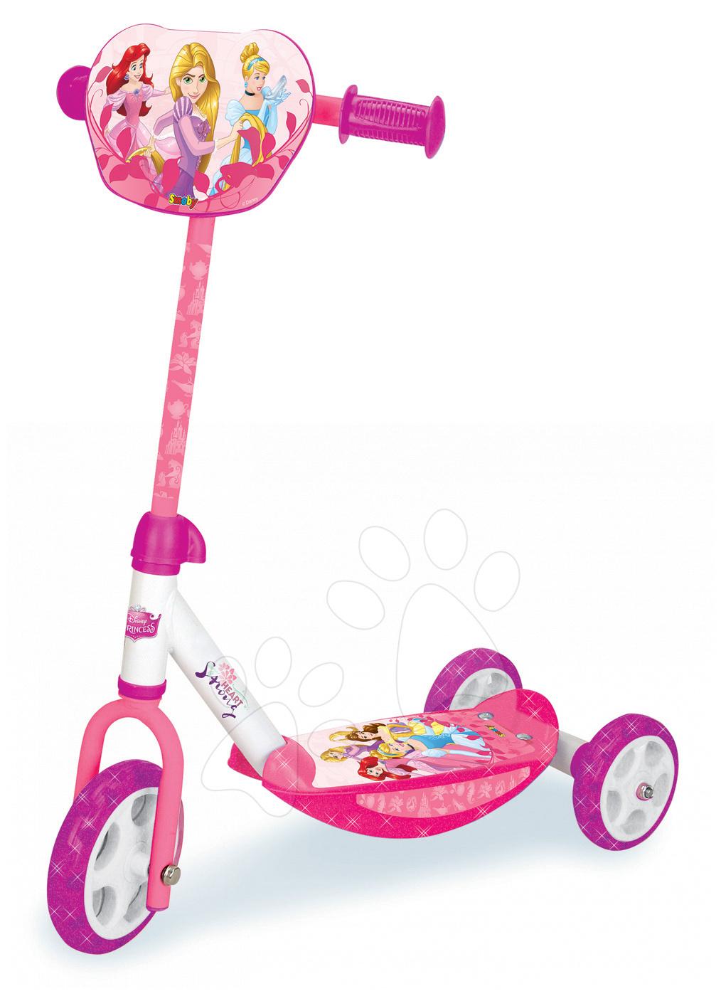 Dječji romobili - Romobil na tri kotača Disney Princeze Smoby s prilagodljivom ručkom od 2.5 godine