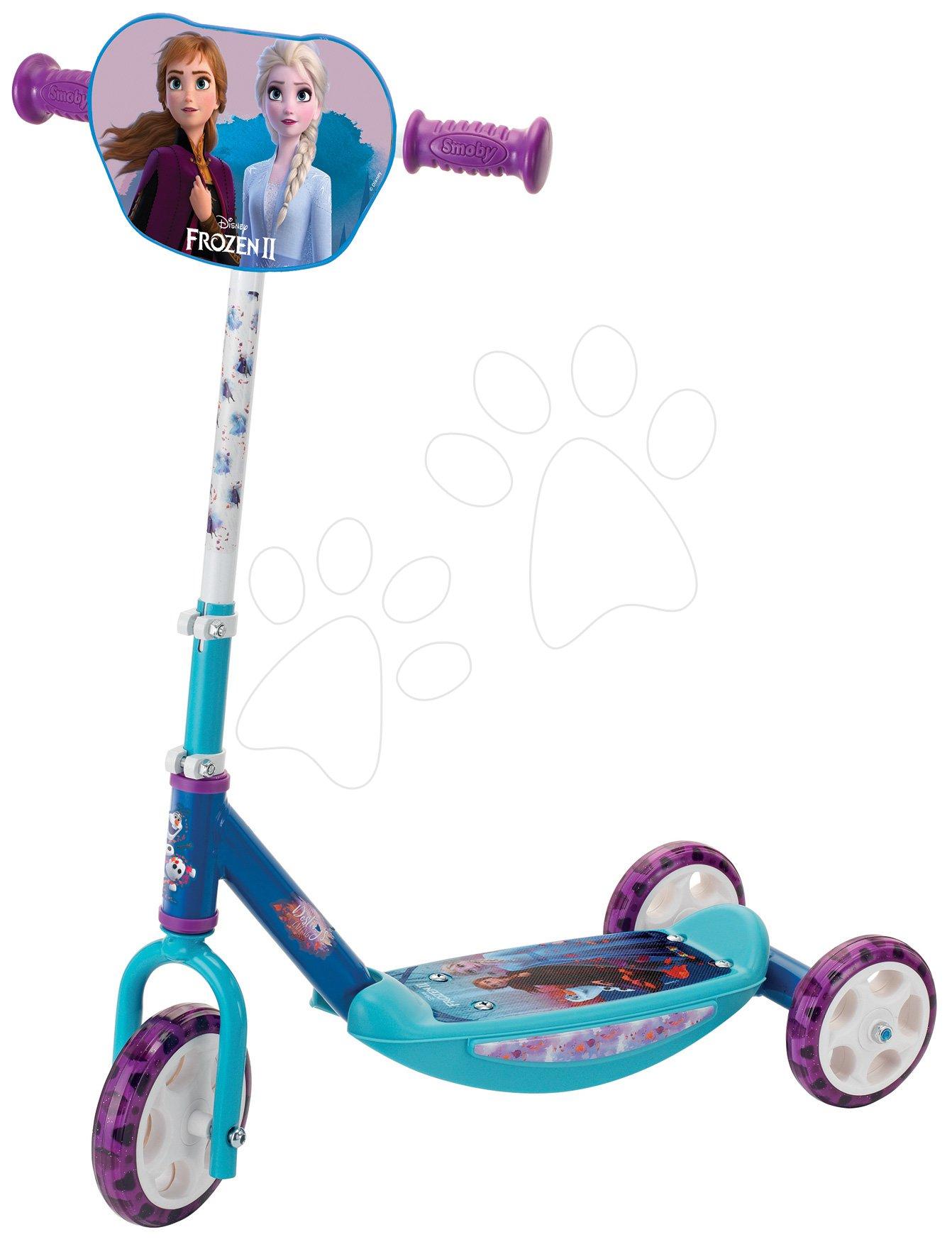 Trotinetă cu trei roți Frozen 2 Disney Smoby cu mâner reglabil, antiderapantă
