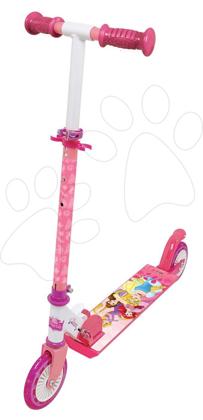 Kolobežka dvojkolesová Disney Princess Smoby skladacia s brzdou a výškovo nastaviteľnou rúčkou od 5 rokov