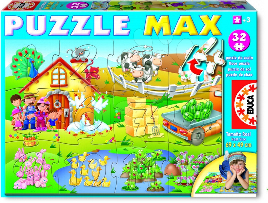Puzzle FARMA MAX Educa 32 dielov