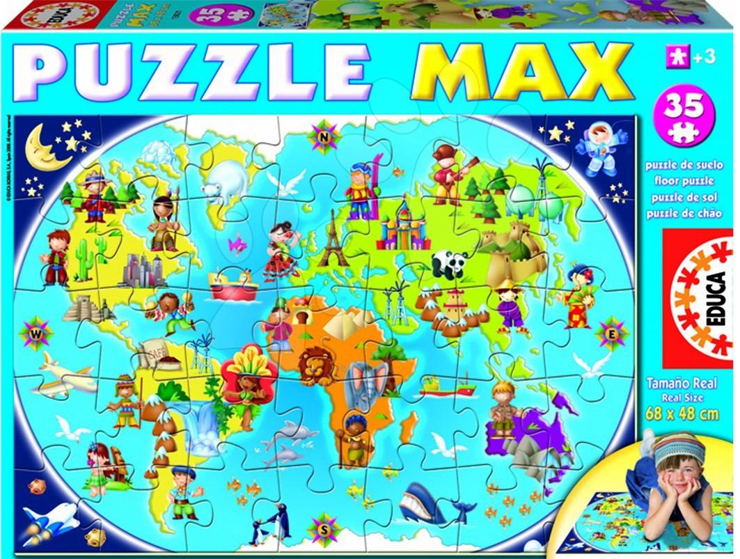 Puzzle Mapa Max Educa 35 dielov od 24 mes