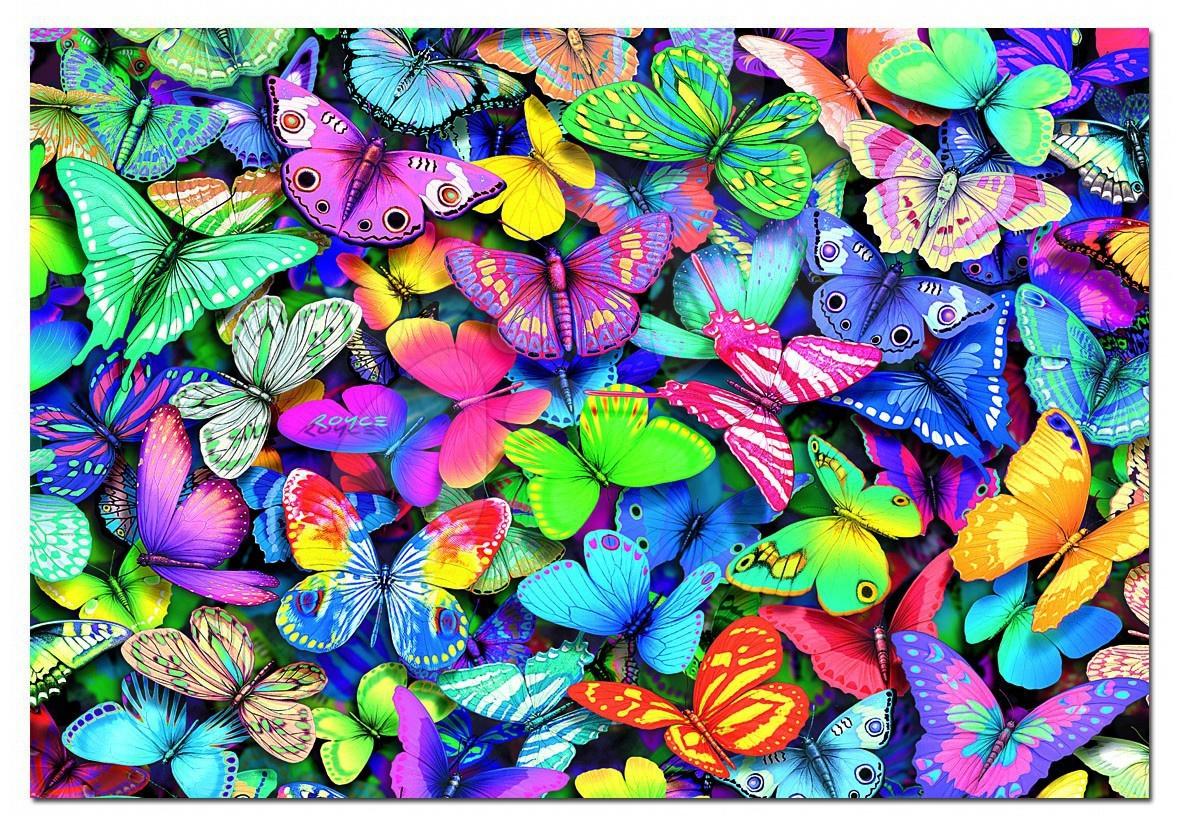 Puzzle Fluturi coloraţi Educa 500 de piese