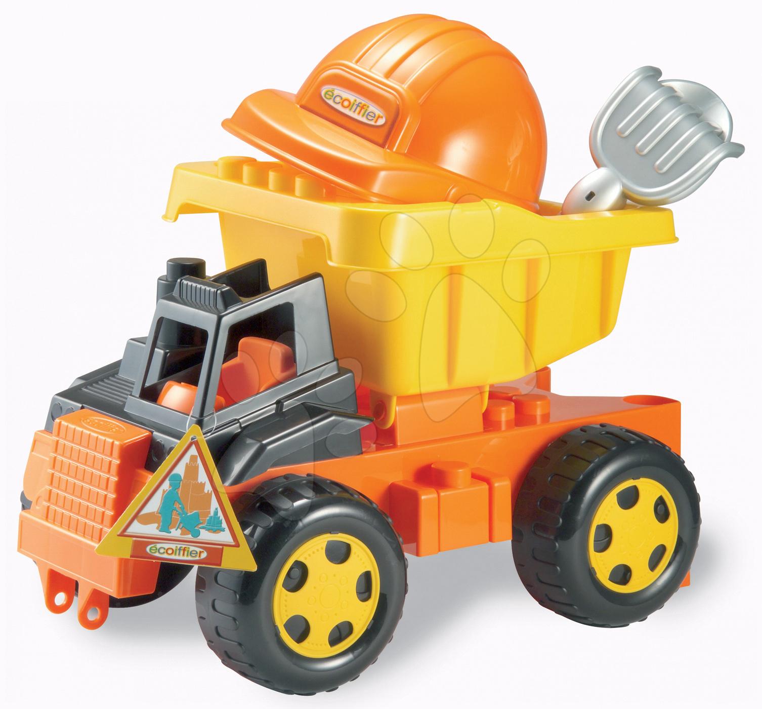 Auta do písku - Auto do písku Écoiffier s přilbou a nářadím (délka 42,5 cm) od 18 měsíců
