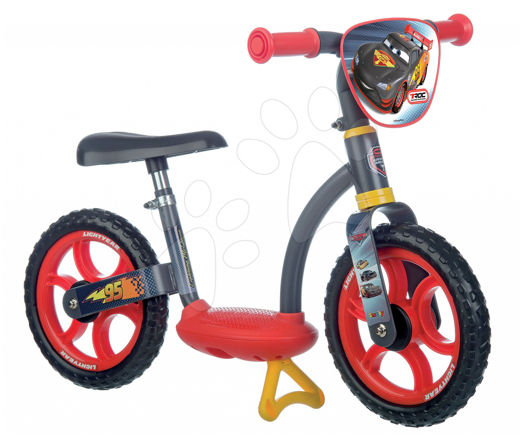 Balanční odrážedlo Auta Learning Bike Smoby s nastavitelnou výškou sedáku od 24 měsíců