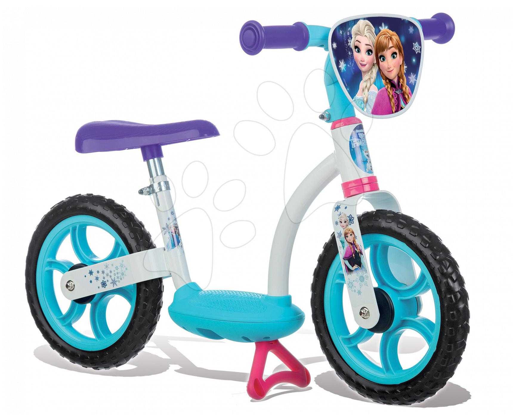 Balanční odrážedlo Ledové království Learning Bike Smoby s nastavitelnou výškou sedáku od 24 měsíců
