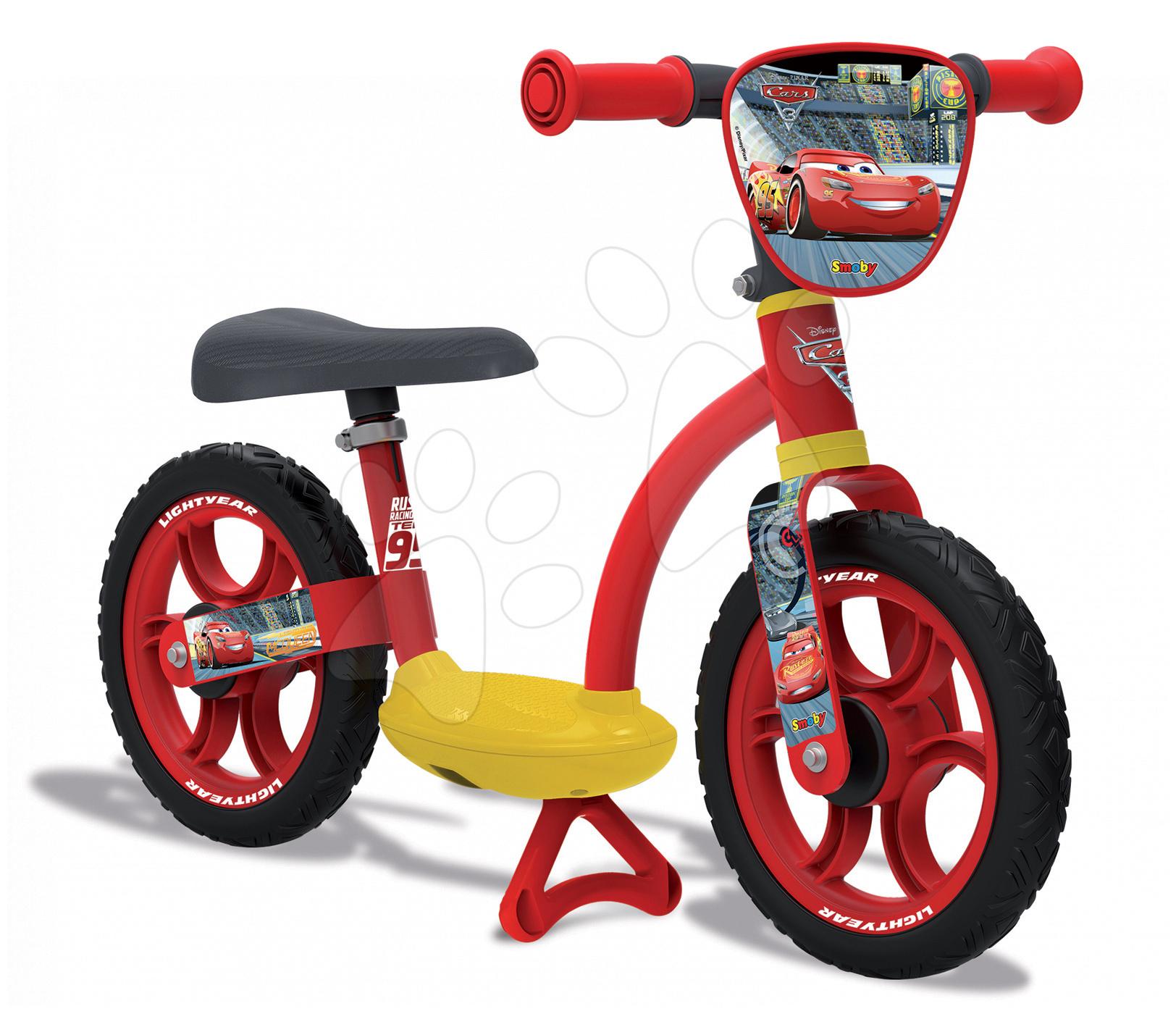Balanční odrážedlo Auta 2 Learning Bike Comfort Smoby s nastavitelnou výškou sedáku od 24 měsíců