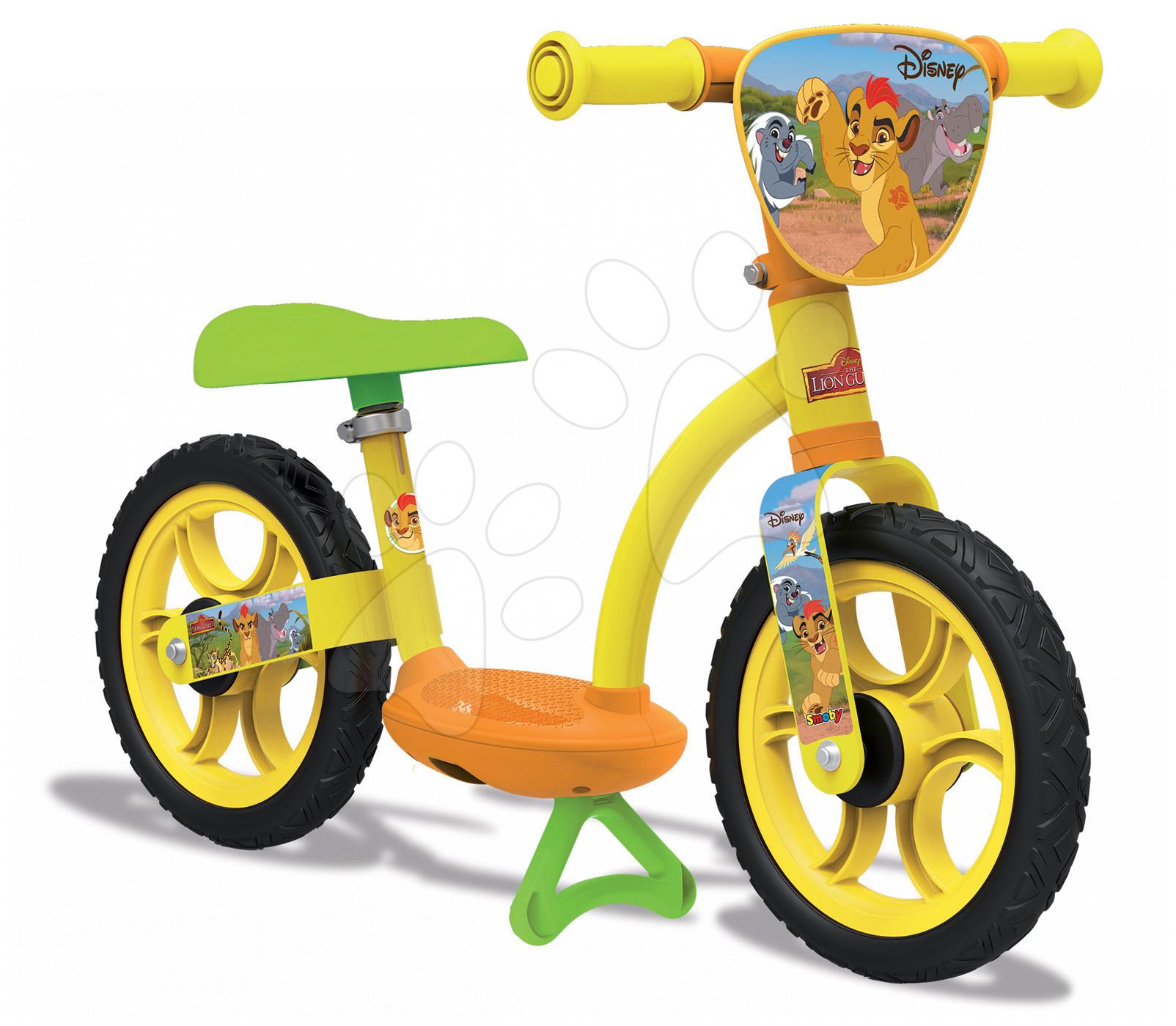 Balanční odrážedlo Lion Guard Learning Bike Comfort Smoby s nastavitelnou výškou sedáku od 24 měsíců