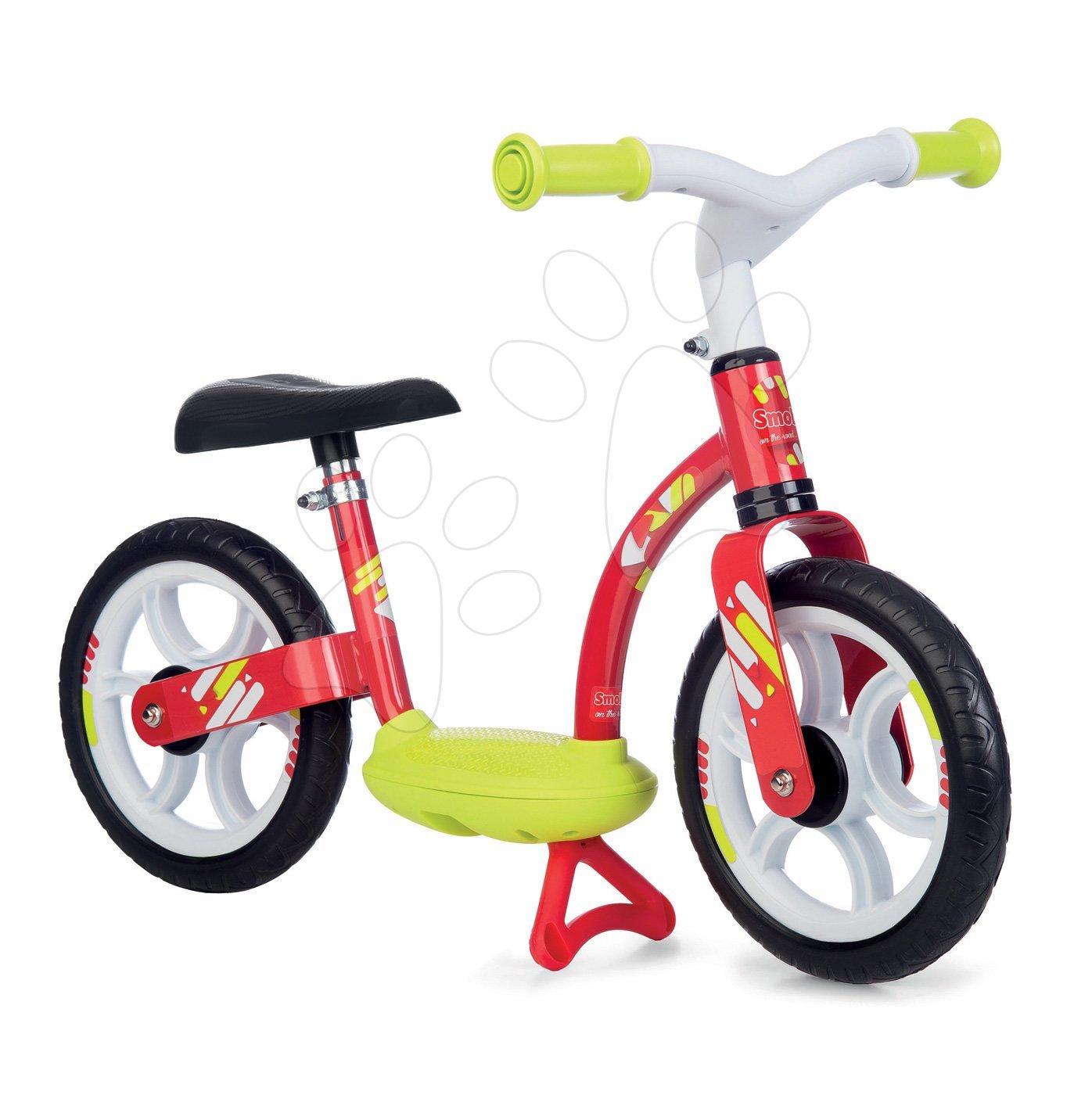 Balančné odrážadlo Balance Bike Comfort Red Smoby s kovovou konštrukciou a výškovo nastaviteľným sedadlom od 24 mes
