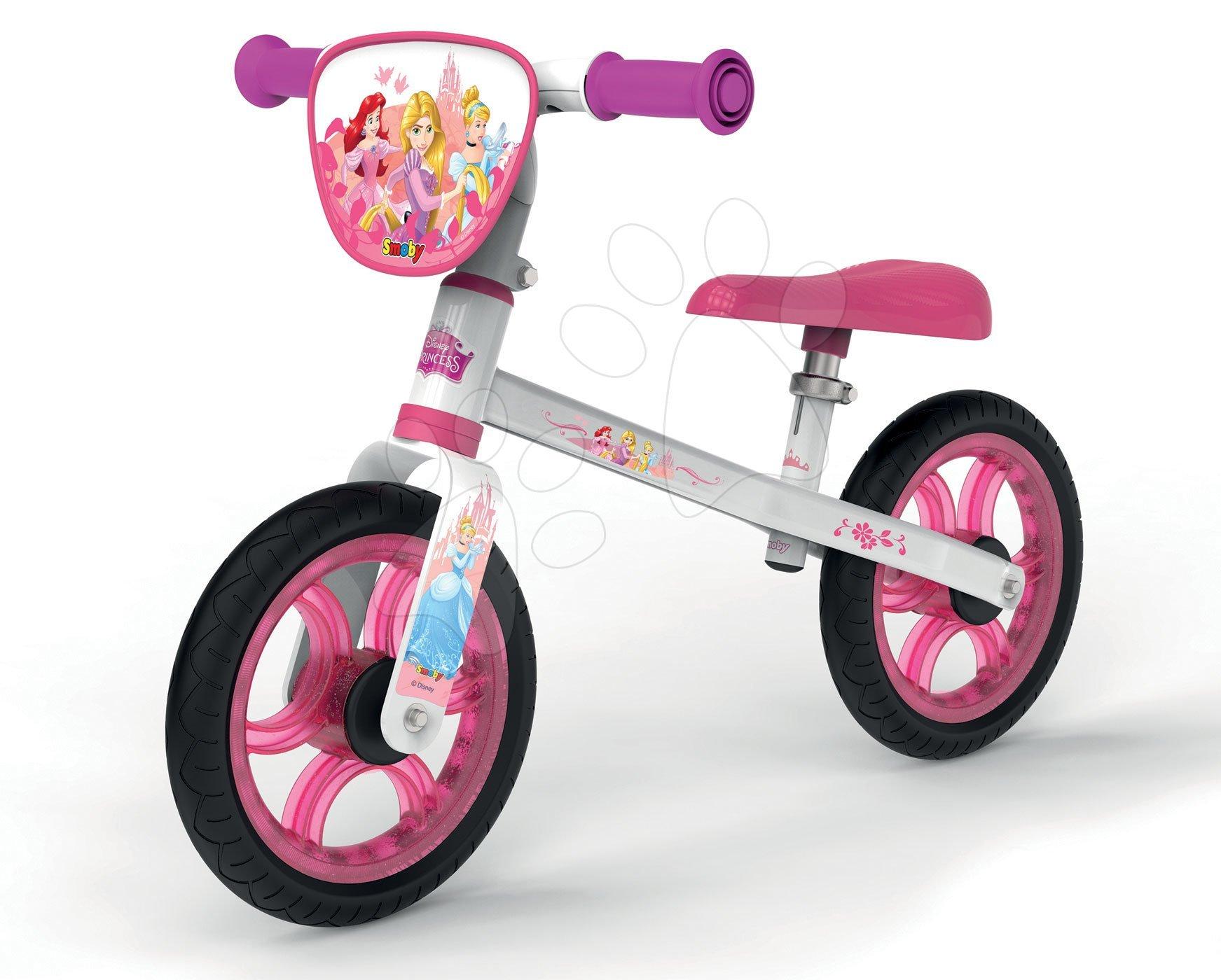 Guralice za djecu od 18 mjeseci - Balansna guralica Disney Princess First Bike Smoby s metalnom konstrukcijom i prilagodljivim sjedalom od 24 mjeseca