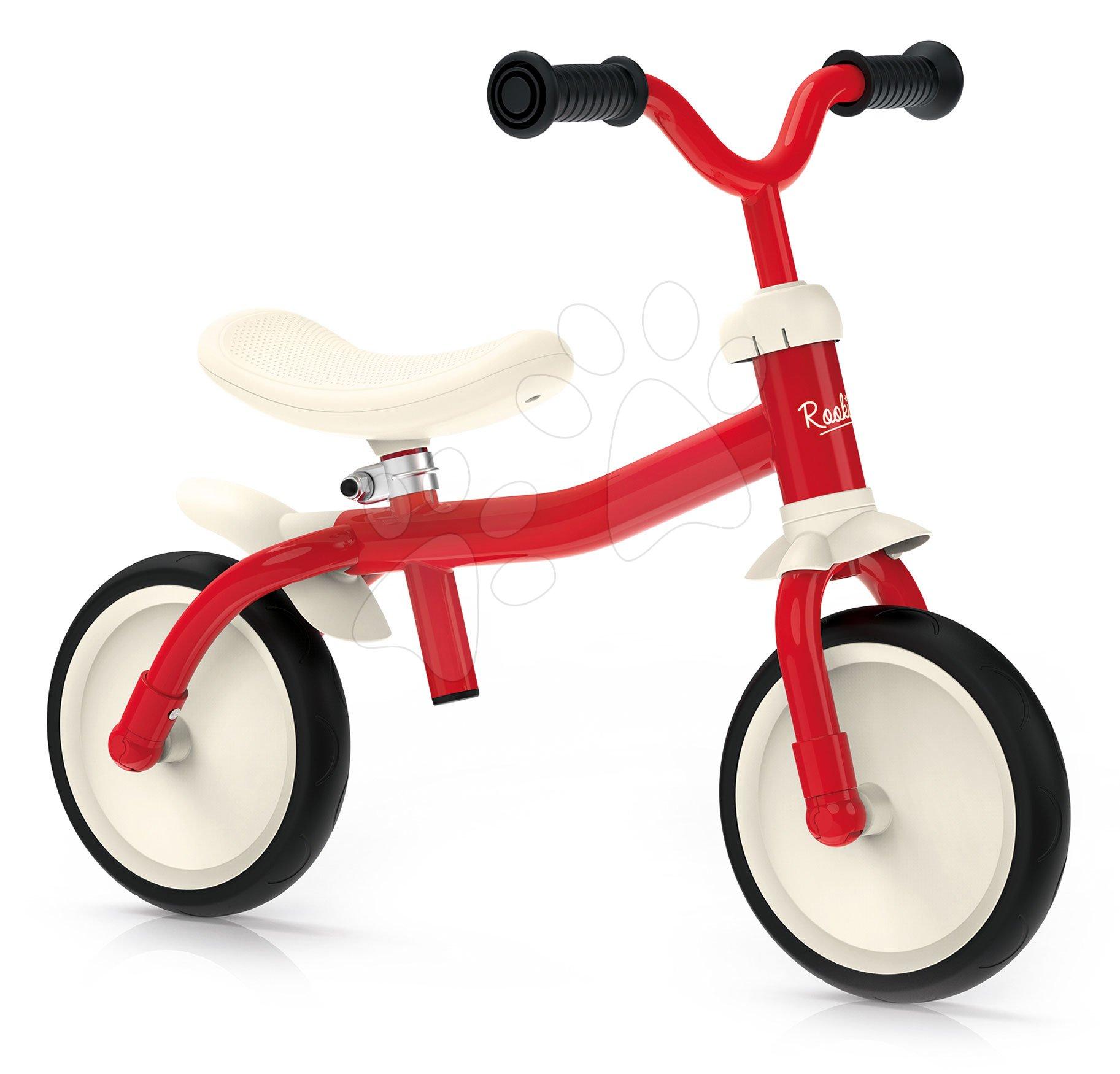 Balančné odrážadlo ultraľahké Rookie Bike Smoby s výškovo nastaviteľným sedadlom a riadidlami a tiché gumené kolesá od 18 mes