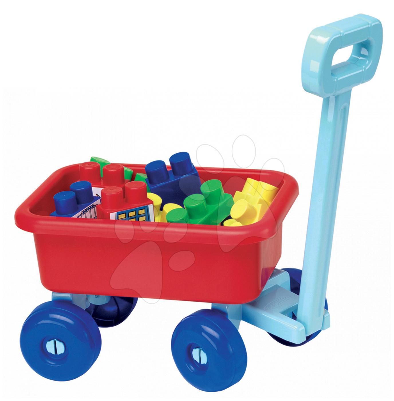 Stavebnice pre najmenších - Vozík so stavebnicou Abrick Maxi Écoiffier 20 dielov od 12 mes
