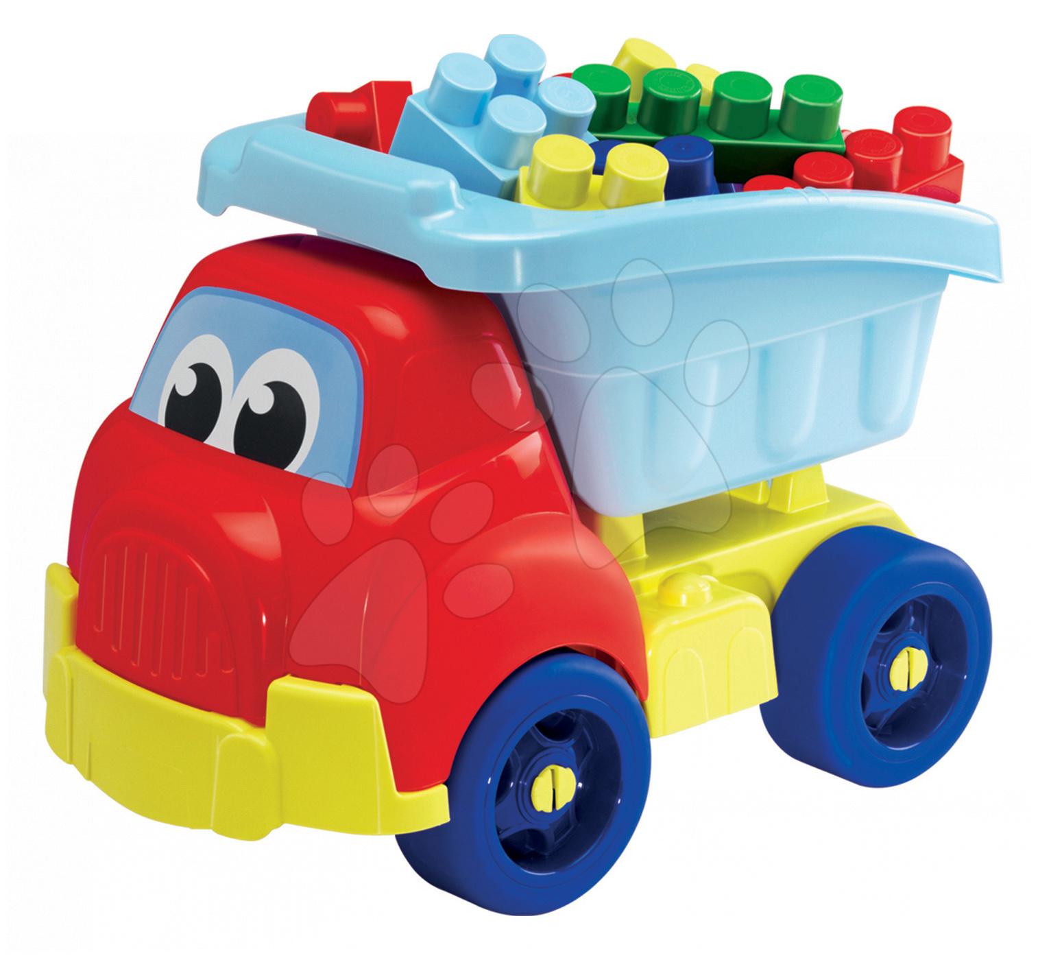 Kostky a stavebnice - Nákladní auto Abrick Maxi Écoiffier s velkými kostkami 30 dílů od 12 měsíců