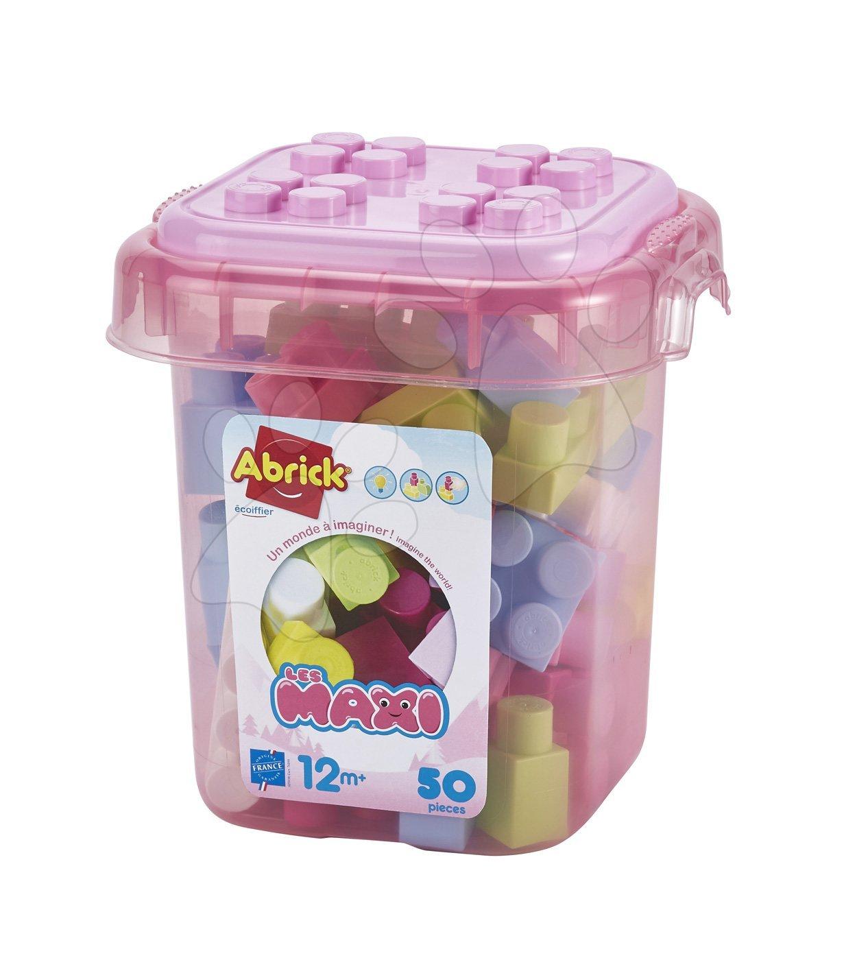Baba építőjáték és kockák - Építőkockák dobozban Abrick Maxi Écoiffier 50 db-os 12 hó-tól