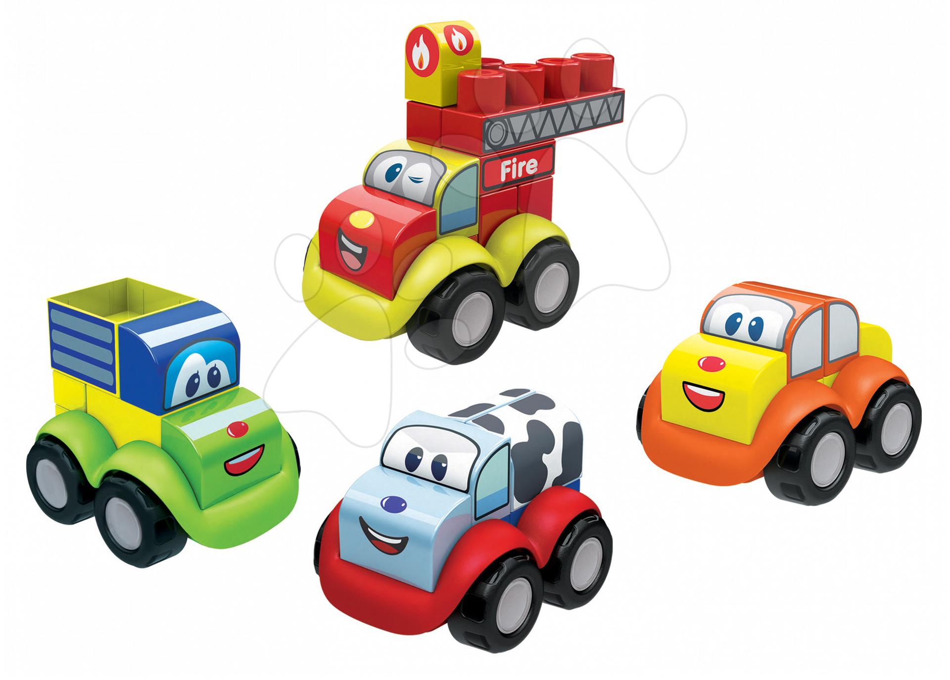 Stavebnice pre najmenších - Stavebnica Abrick Maxi 4 autíčka Écoiffier od 12 mes