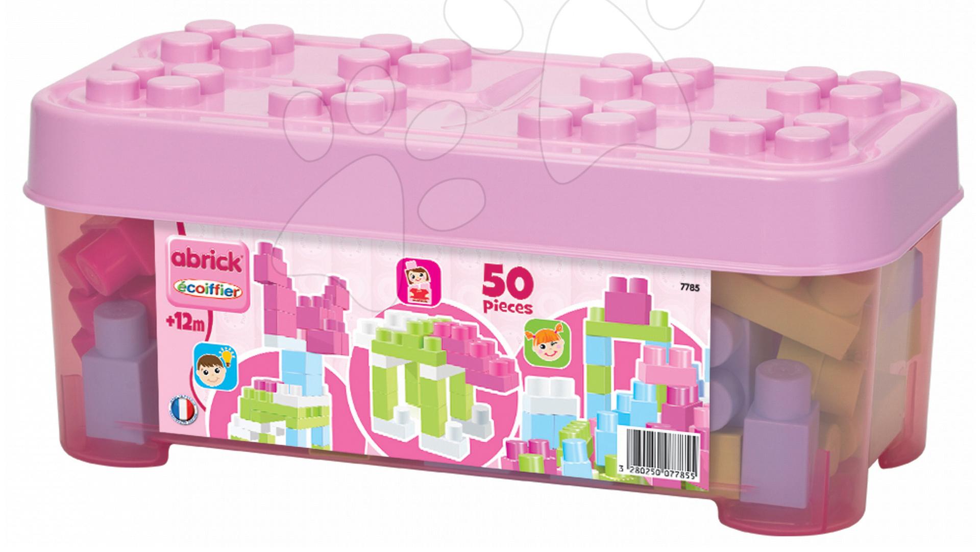 Écoiffier stavebnica pre deti Maxi Abrick s veľkými kockami 7785 ružová