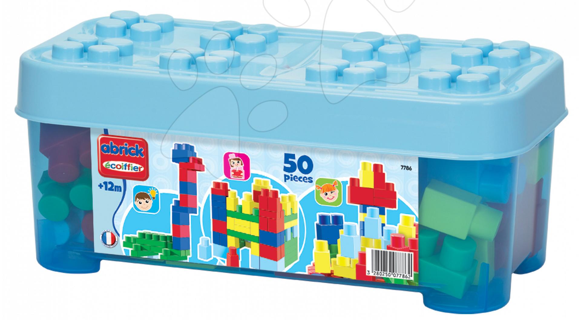 Écoiffier veľké kocky pre deti Maxi Abrick v krabici 7786 modré