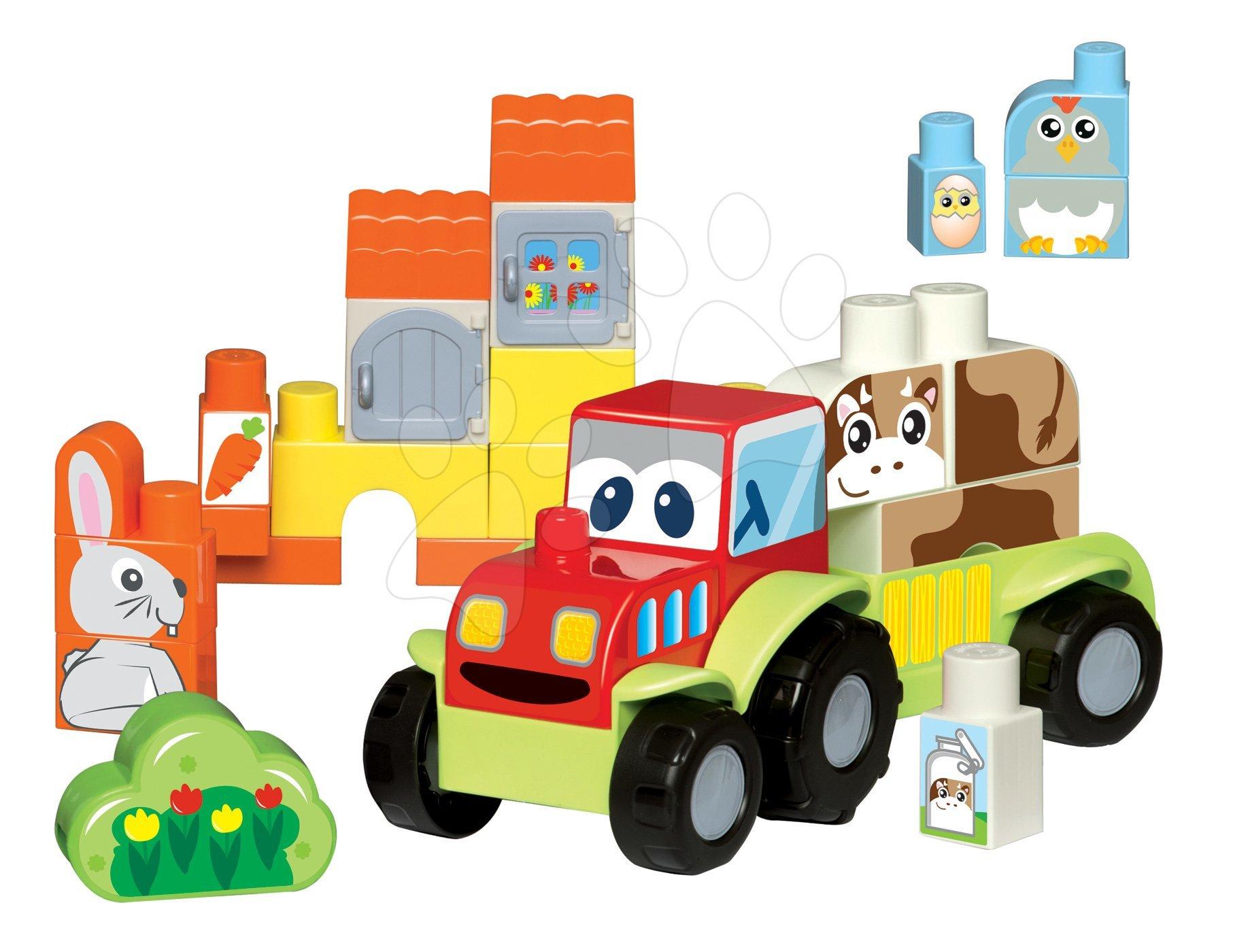 Stavebnica Maxi Abrick Farma s traktorom Écoiffier 41 kociek s IML potlačou od 12 mes
