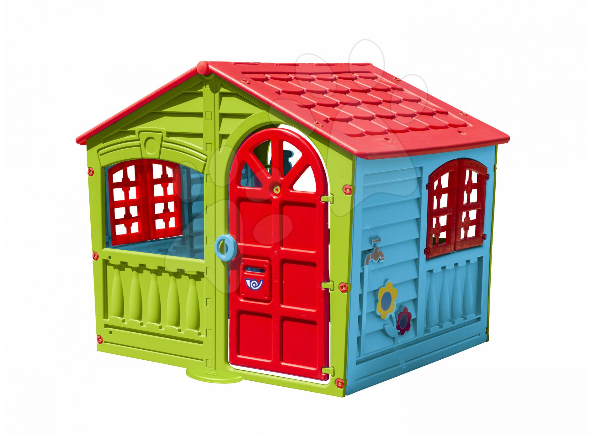 Domčeky pre deti - Domček Fun Happy House PalPlay s dvoma dverami a hodinami od 24 mes