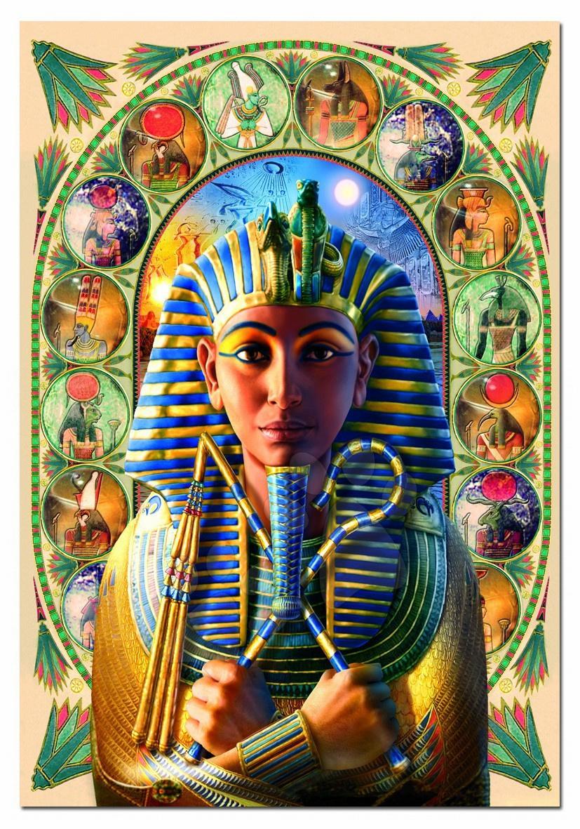 Puzzle Faraonul Tutankhamon Educa 1000 bucăţi 68 x 48 cm