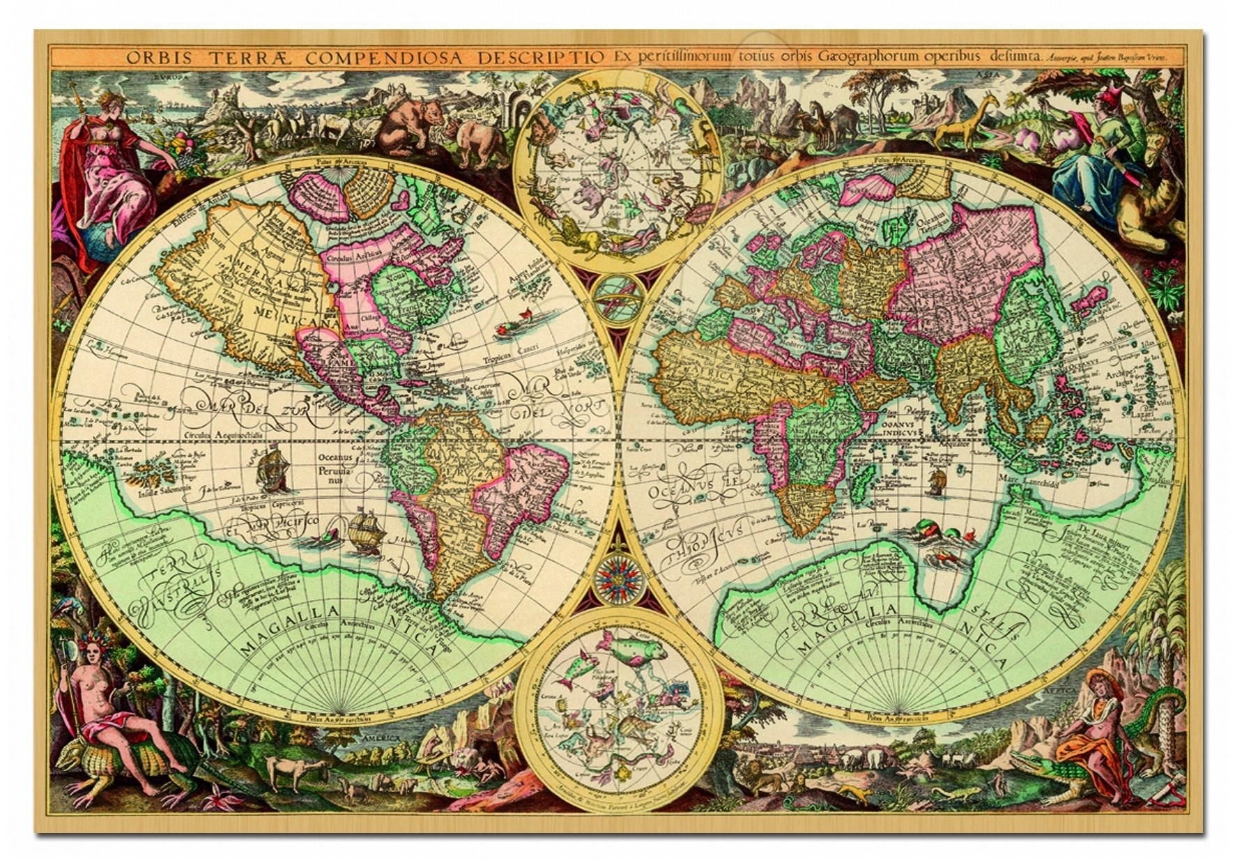 Educa Puzzle 1000 delov mapa sveta 68 x 48 cm