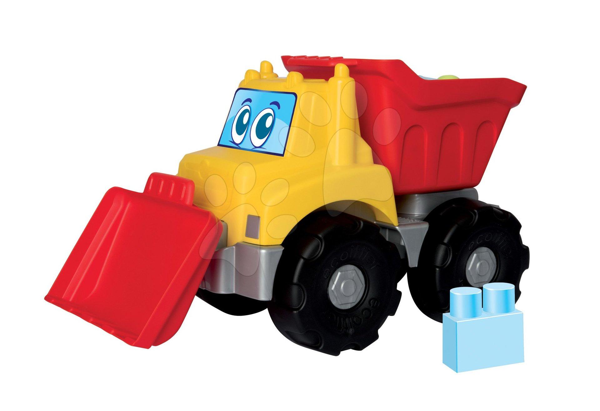 Stavebnica pre bábätká Les Maxi Écoiffier auto s 15 kockami od 12 mes