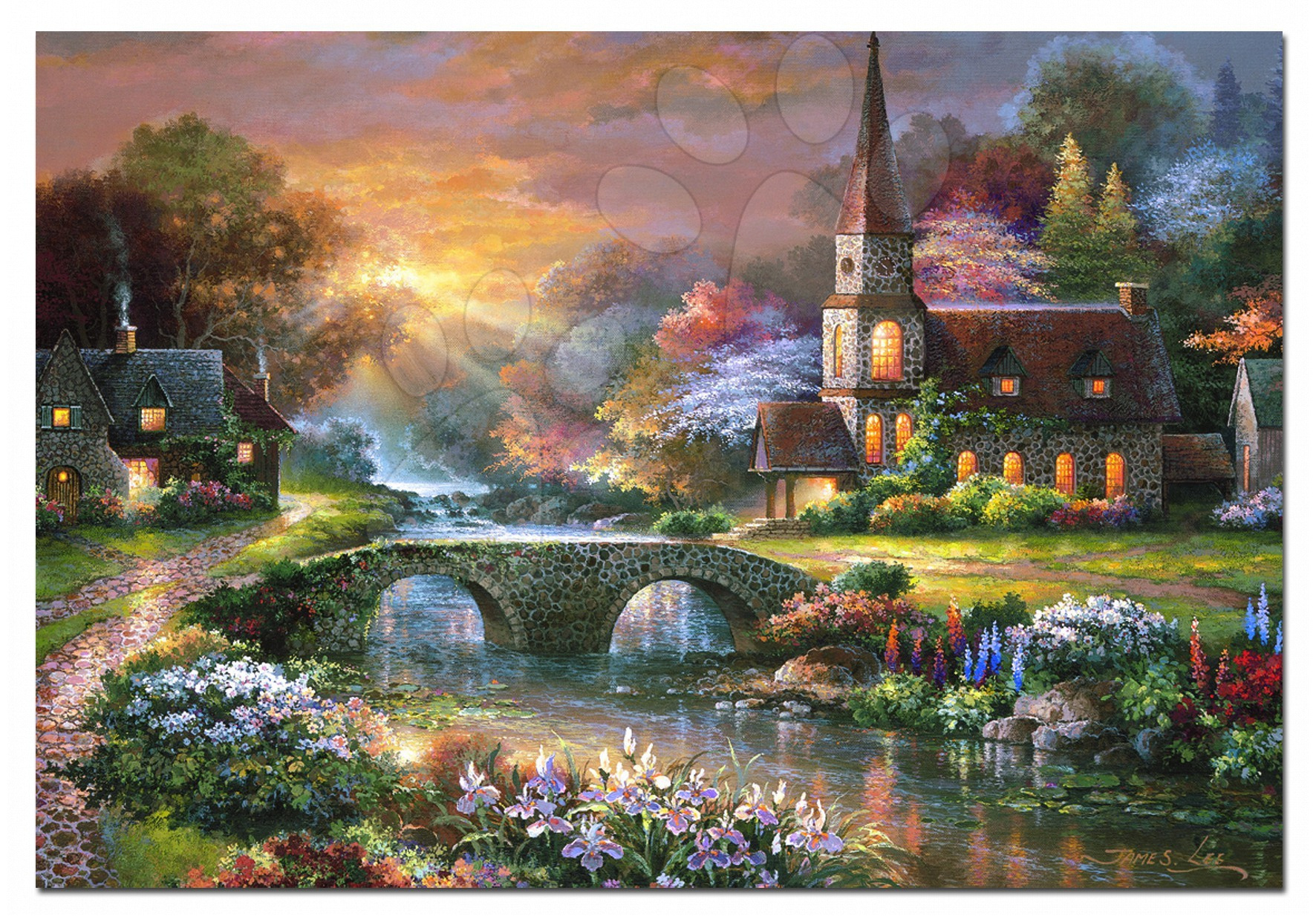 1000 darabos puzzle - Puzzle - James Lee, Peaceful reflections Educa 1000 db + Fix Puzzle ragasztó