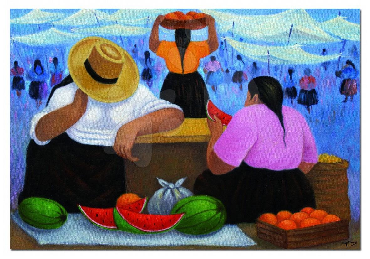 1000 darabos puzzle - Puzzle Fruit Vendors, E. Millones Educa 1000 db