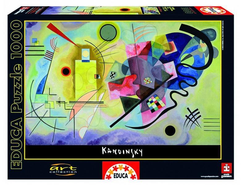 1000 darabos puzzle - Puzzle Sárga-Piros-Kék (Kandinsky) Educa 1000 db