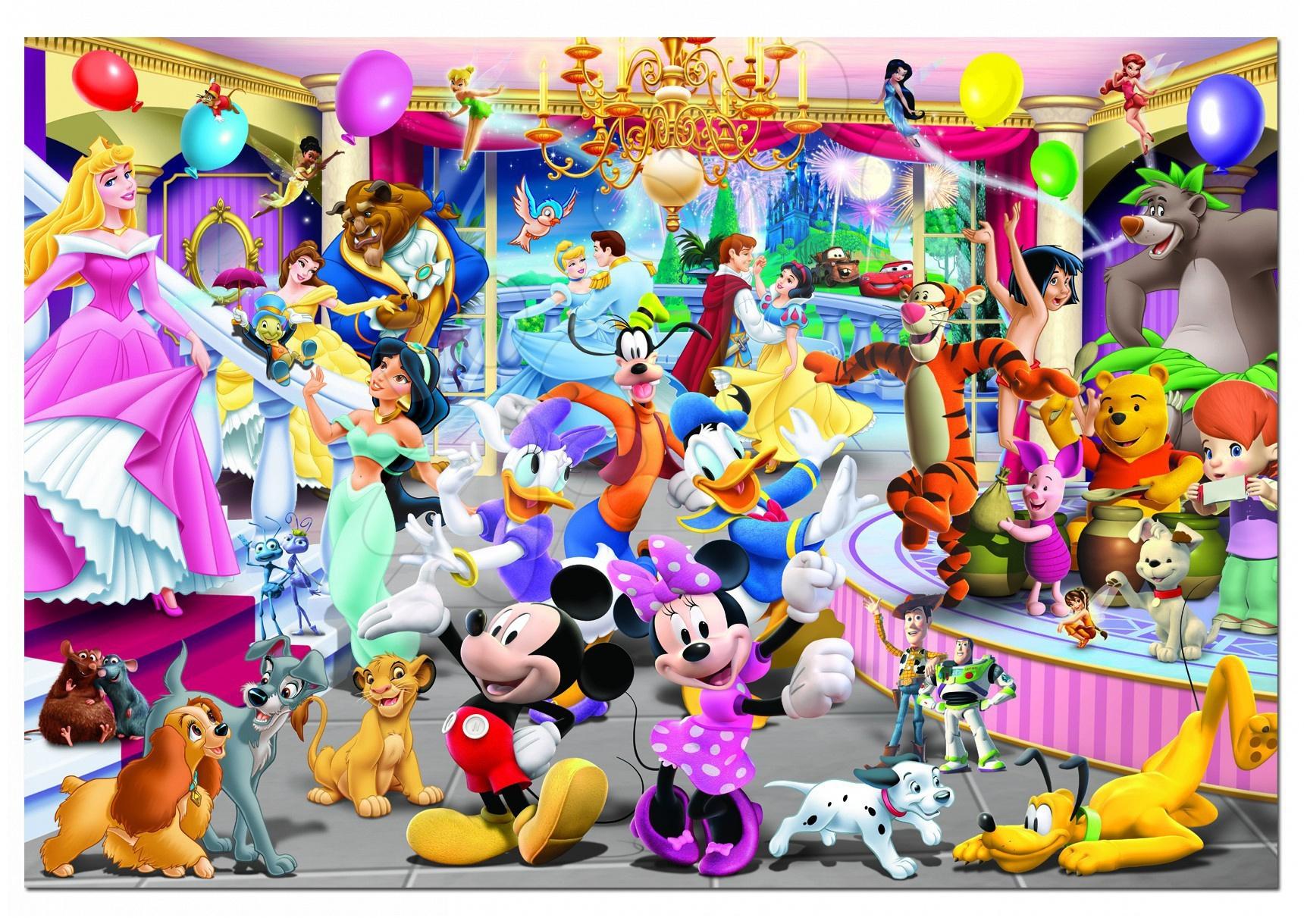 Disney puzzle Family Educa 1000 dílků a FIX PUZZLE LEPIDLO