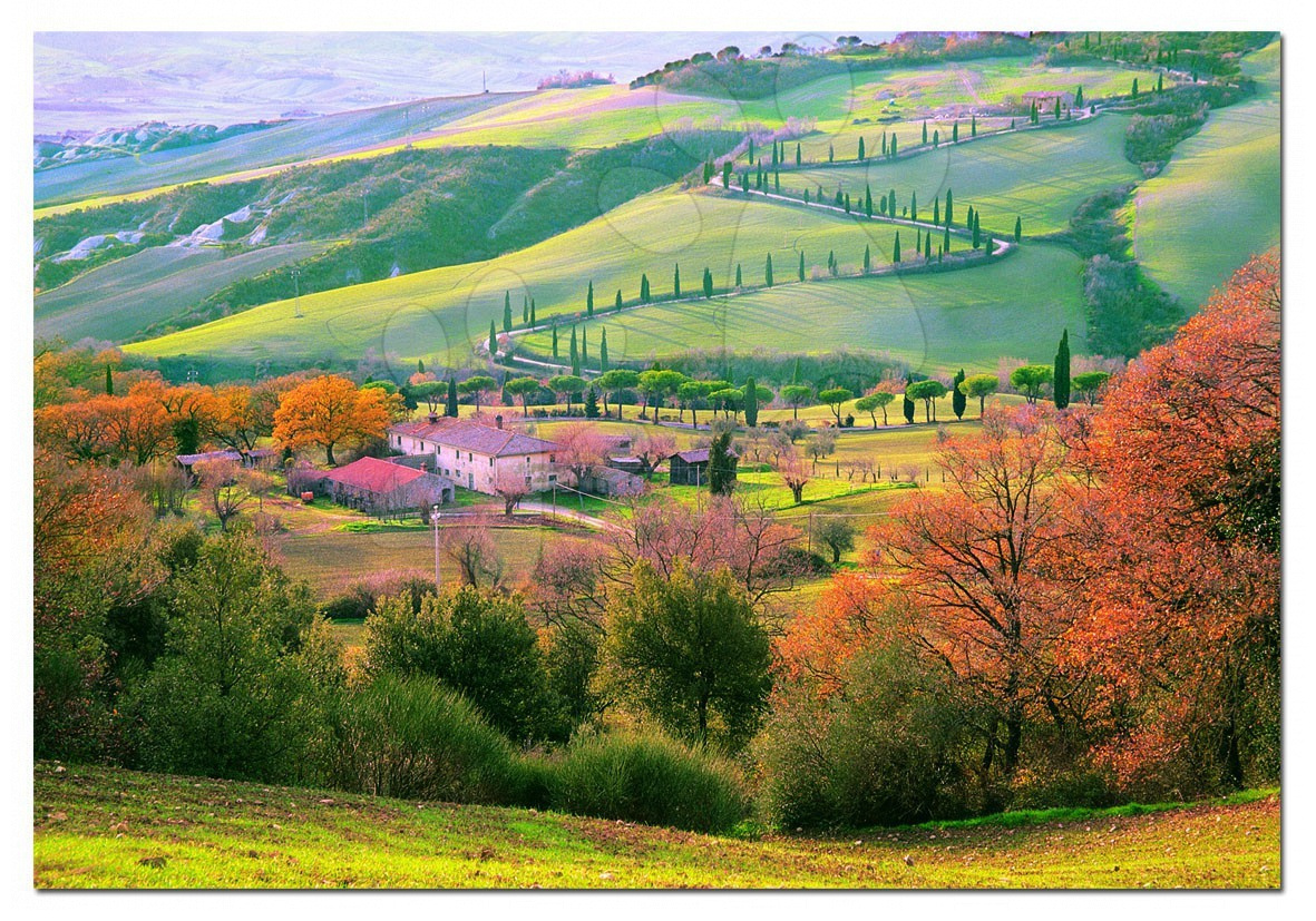 Puzzle 1500 dílků - Puzzle Peisajul Toscany / Italy / Educa 1500 dílků